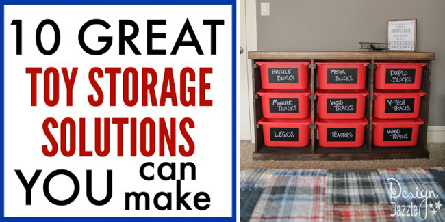 Toy Storage Solutions that You Can Make!