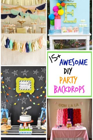 Over 15 awesome DIY party backdrops to make your dessert table really pop!