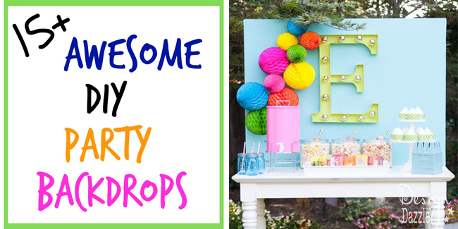 15 awesome diy party backdrops