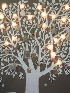 vinyl tree with fairy lights