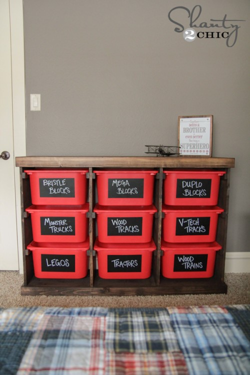 make your own toy bin organizer