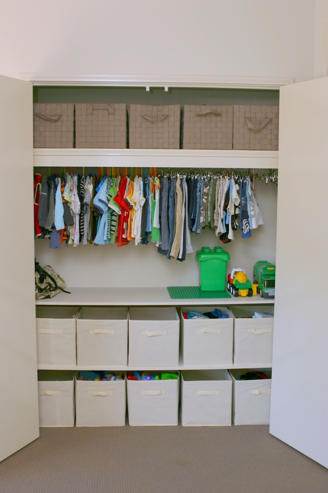 Kids closet organization ideas design dazzle Diy wardrobe organising ideas