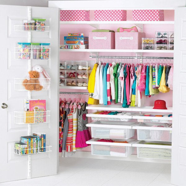 Hang Shelves And Racks To Organize Kids Toys, Clothes, Books, And Blankets.