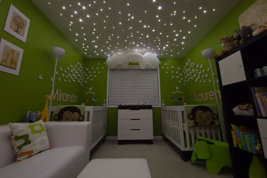 Making Magic In Kids Rooms With Fairy Lights Design Dazzle - Twinkle lights on bedroom ceiling