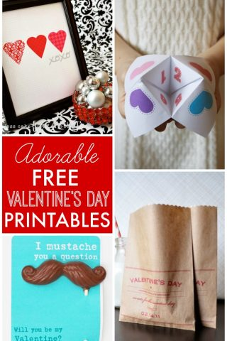 Adorable FREE Valentine's Day printables for decorating, kids, gift-giving, crafts and more!