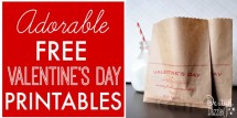 adorable free valentines day printables fi