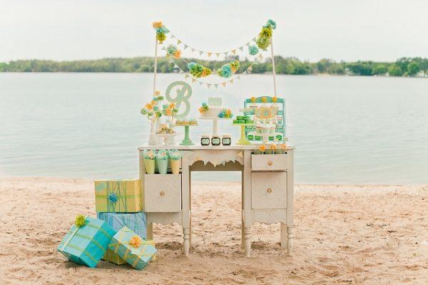 Gender Neutral Baby Shower Dessert Tables