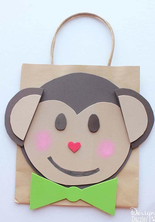 Your little monkey will love this monkey Valentine card holder. Check out the simple tutorial on Design Dazzle!