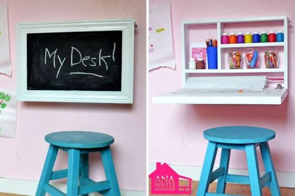 flip down desk