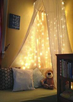 cozy reading tent