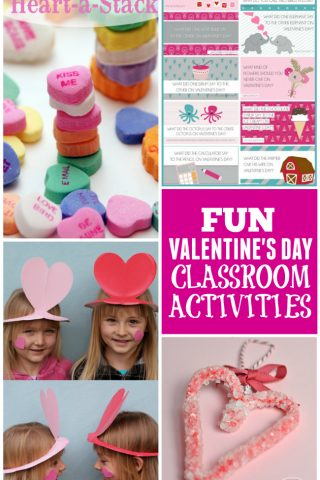 A collection of fun & entertaining Valentine's Day classroom activities to keep those kids busy