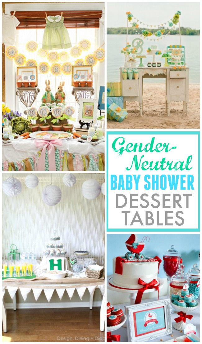 Beautiful gender neutral baby shower dessert tables to make the mamma to be swoon!