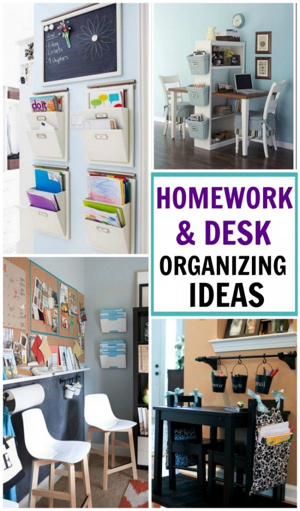 10 FABULOUS homework & desk organizing ideas to keep the school clutter at bay