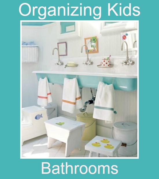 kids bathroom organization