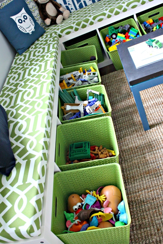 diy toy storage bench
