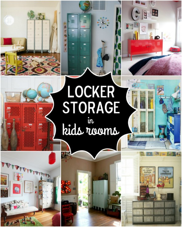 Storage organization for kids rooms design dazzle for Lockers for kids rooms