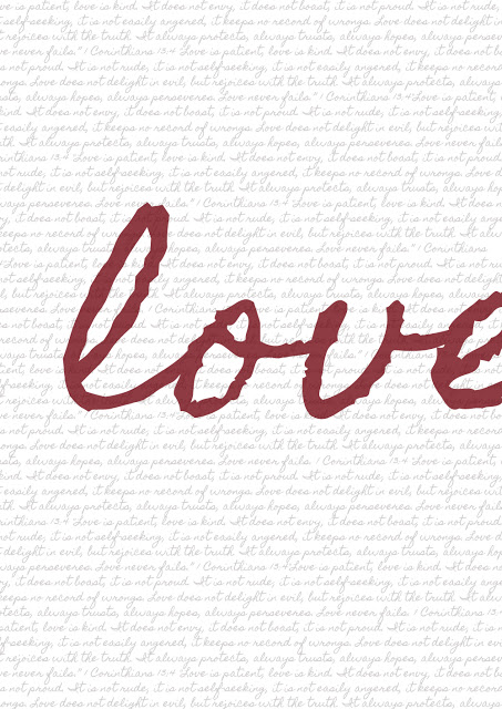 love is kind printable