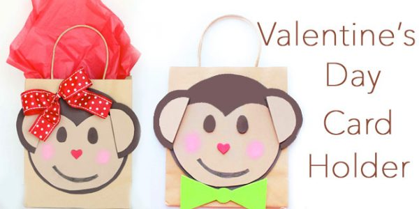 Make a Valentine Card Holder with your kids - Monkey style!!! Free pattern! Design Dazzle
