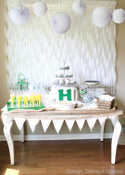 Gender Neutral Baby Shower Dessert Tables Design Dazzle