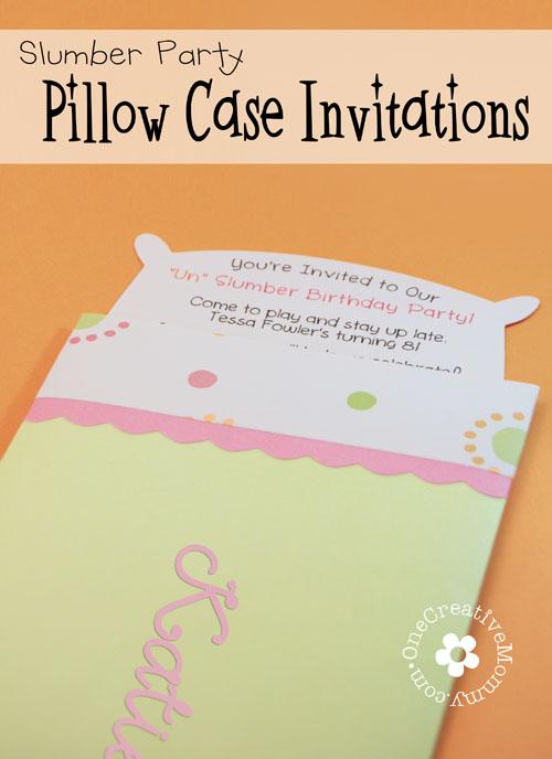 pillowcase invitations