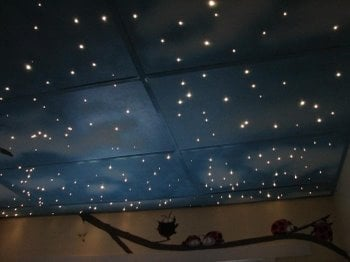 Making magic in kids rooms with fairy lights design dazzle starry ceiling tiles aloadofball Image collections