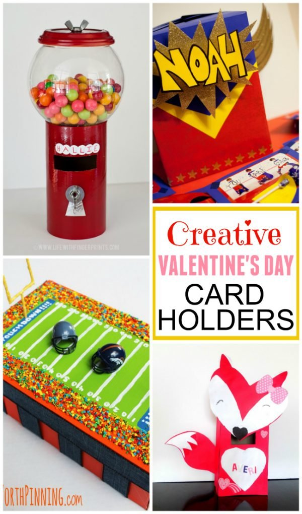 Super creative Valentine's Day card holders for your kids to make for collecting their valentines.