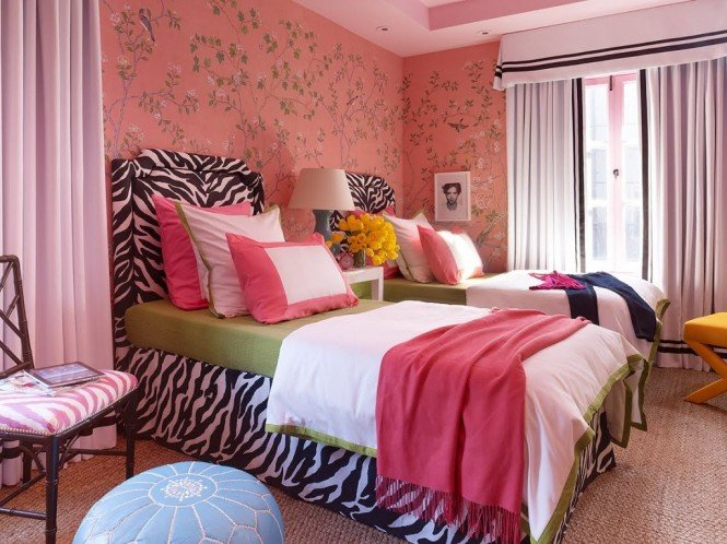 Marvelous Love this teen girl room what a fun punch of zebra print decor in the