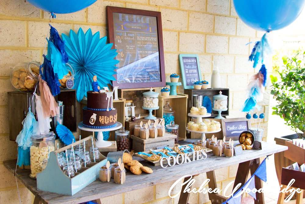 I Love This Milk And Cookies Party What A Perfect 1st Birthday Idea