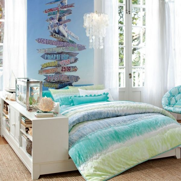 tie dye beach room