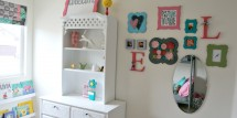 Little Girls Room Makeover with lots of fun DIY projects!
