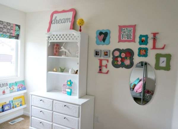 Little GirlsRoom Makeover with lots of fun DIY projects!