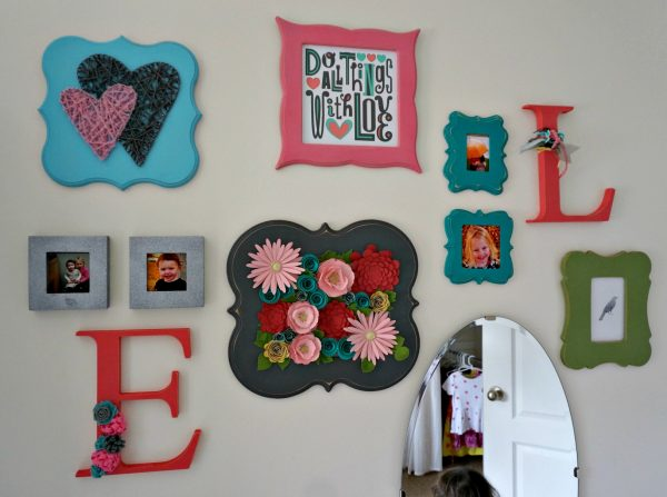 Fun & Pretty Wall Art for a darling little girl room makeover