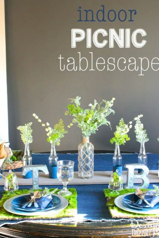 Indoor Picnic Tablescape