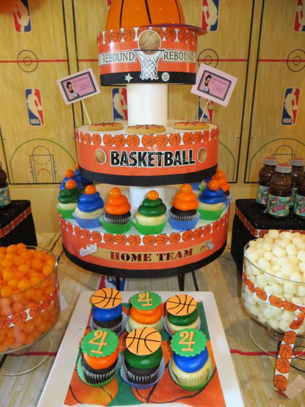sweet basketball party display stand