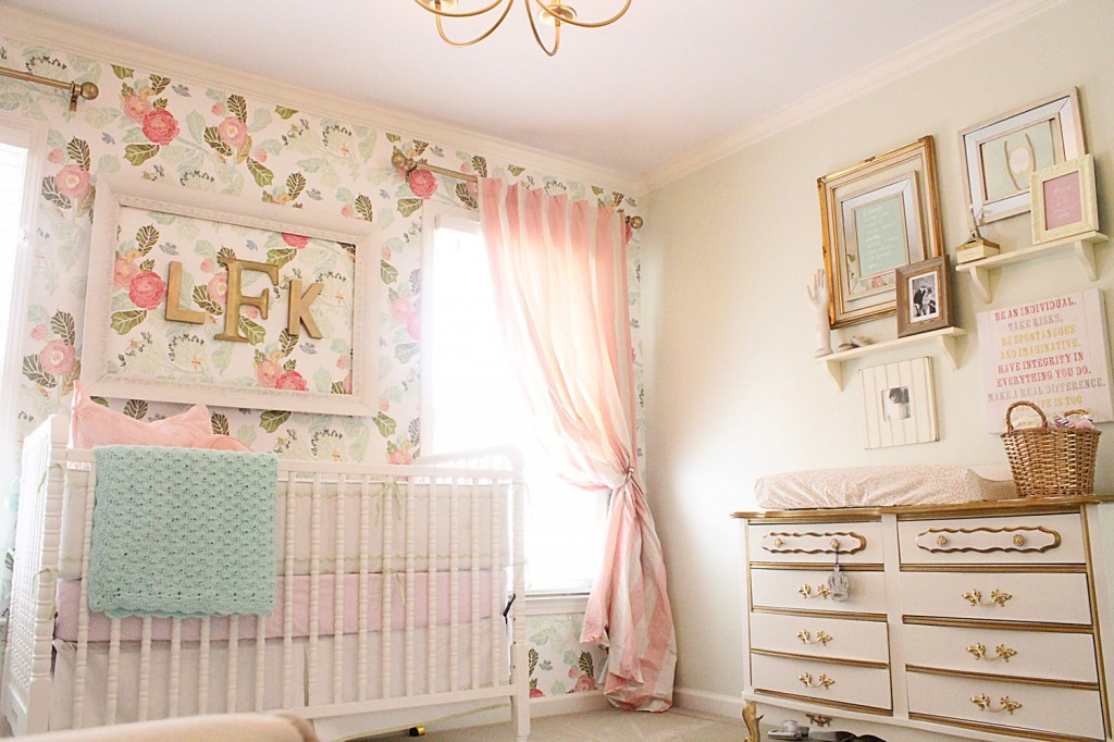 """Okay, this person totally had me at """"Vintage Glam"""". Love this nursery!"""