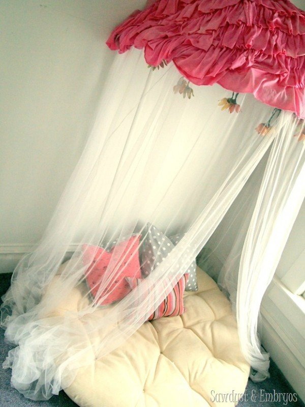 Make A Childrens Reading Nook Canopy Using A