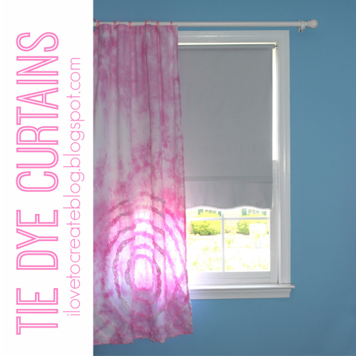 DIY tie dye curtains with full instructions