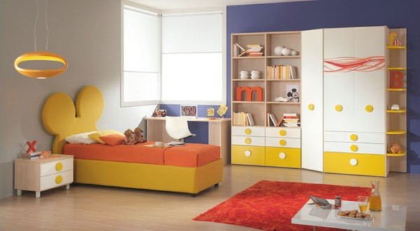 Yellow And Orange Modern Mickey Room