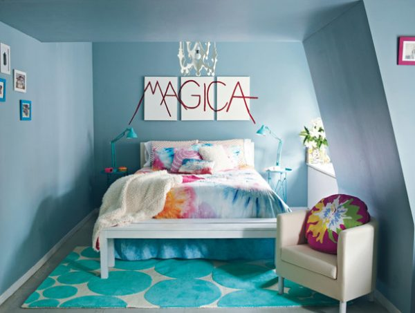 Superieur Tie Dye Bedding With Solid Accent Colors