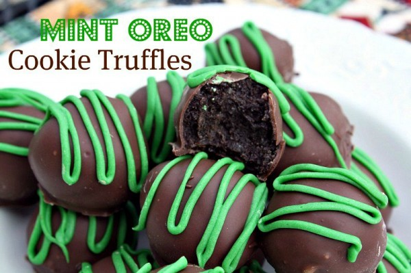 Mint Oreo Cookie Truffles