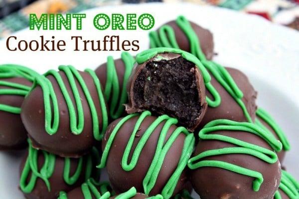 mint cookie oreo truffles