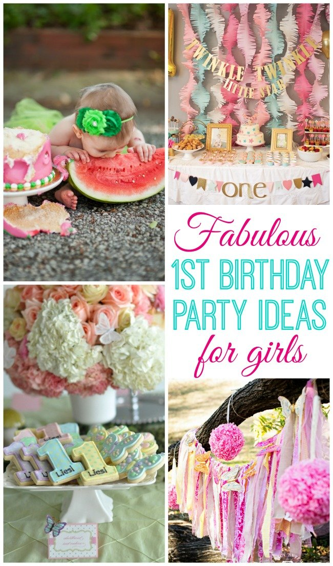 Baby girl turns one design dazzle for Baby girl birthday decoration ideas