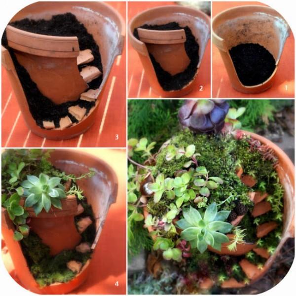 Fairy Garden Broken Pot that is too cute for words.