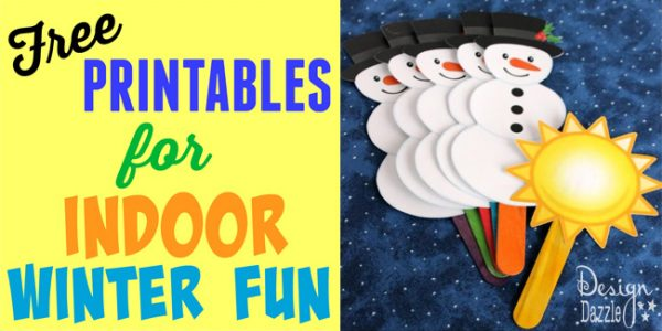Free printables for indoor winter fun