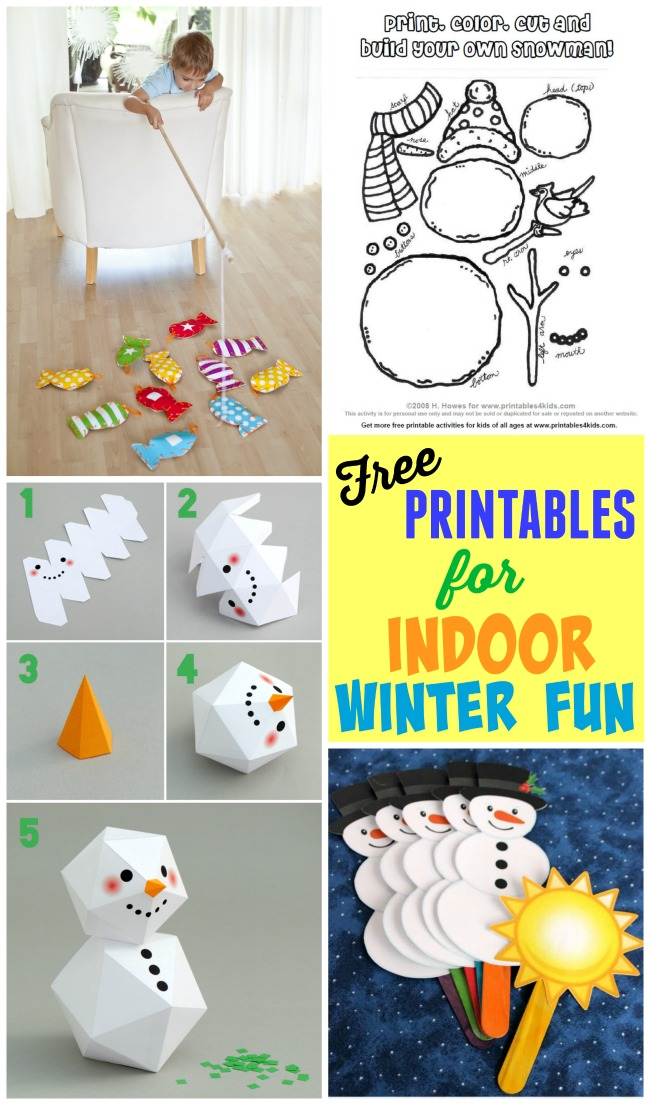 Free Printables For Indoor Winter Fun To Keep Those Kids Busy At Home