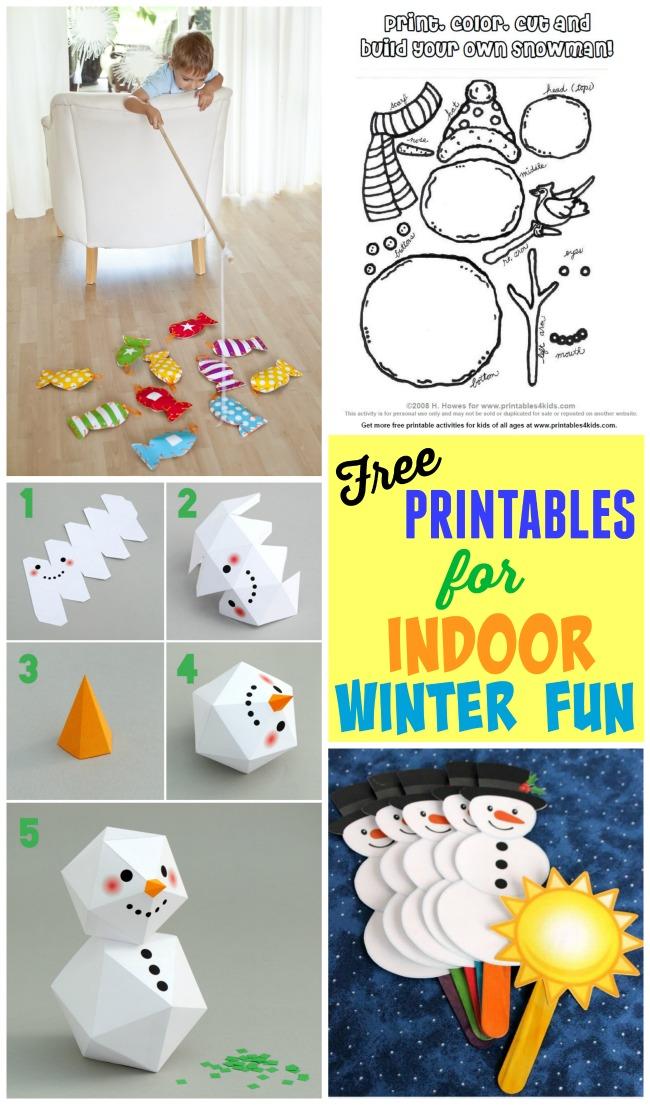 Indoor Winter Fun Printables - Design Dazzle