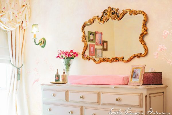 Vintage Girls Nursery - Gorgeous gold and pink!