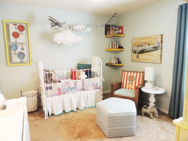 I don't think there could be a cuter vintage boys nursery!