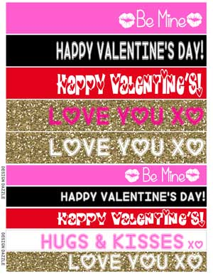 Instructions to make your own Giant Valentine Kiss filled with chocolate kisses! Free printables for kisses! Design Dazzle