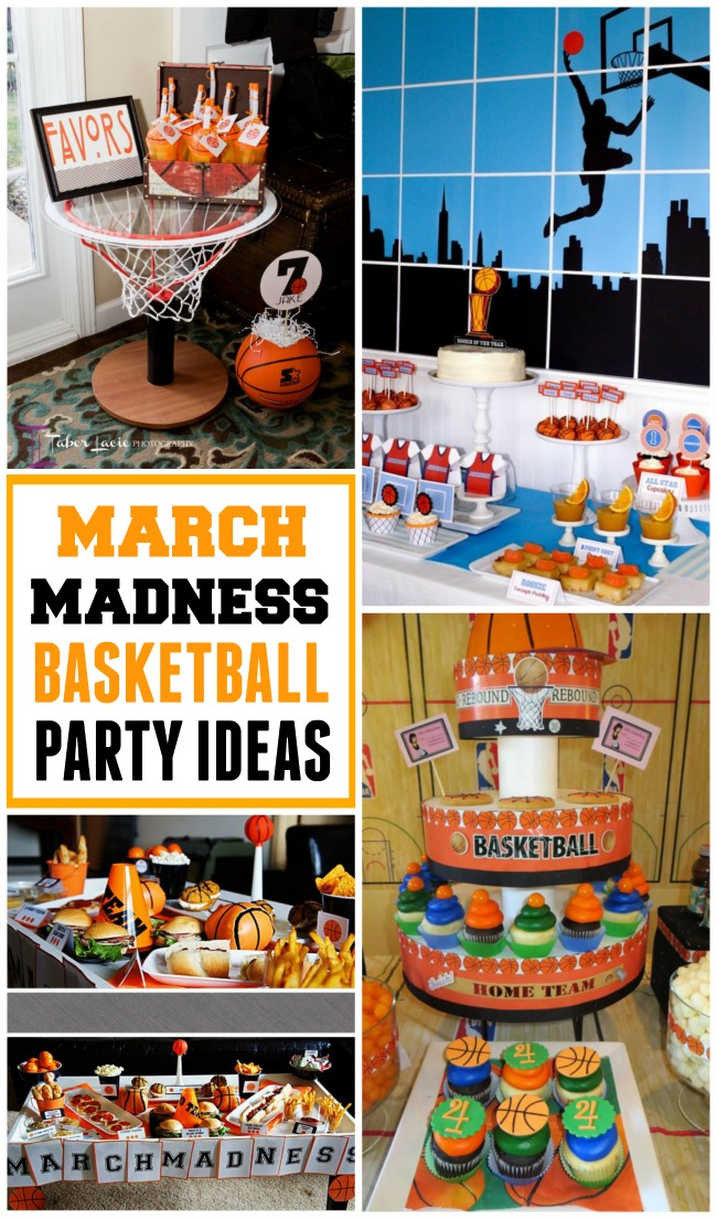 Get ready for march madness with basketball party ideas for Basketball craft party ideas